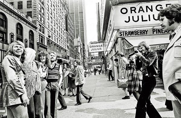 ABBA en Nueva York, durante su primer viaje promocional a Estados Unidos, septiembre de 1974
