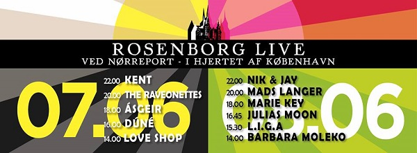 Cartel completo del Rosenborg Live