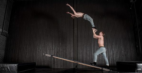 Einar y Anton, dos de los componentes del Circ Combinat. Foto de Einar King-Odencrantz