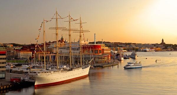 Vista del puerto de Gotemburgo, por Göran Assner / imagebank.sweden.se