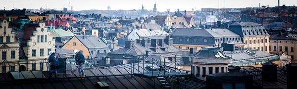 Estocolmo desde los tejados. Foto de Tuukka Ervasti / imagebank.sweden.se