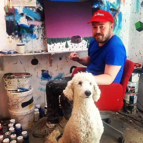Lars Daniel Rehn en su estudio de Gotemburgo. Foto: VisitSweden UK