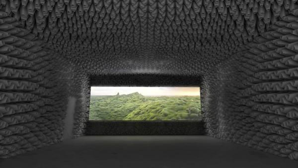 Auditorio creado en el MoMA para la experiencia inmersiva de 'Black Lake'. Foto: The Living