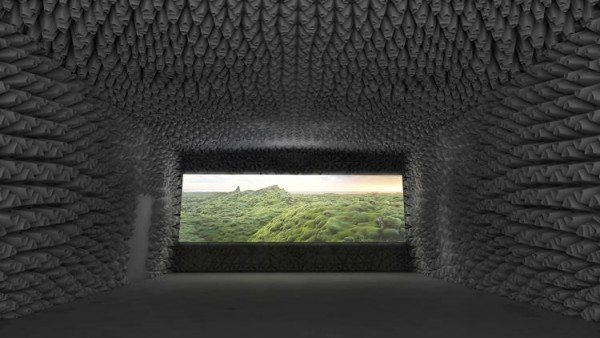 Auditorio creado en el MoMA para la experiencia inmersiva de 'Black Lake'. Foto: The Living