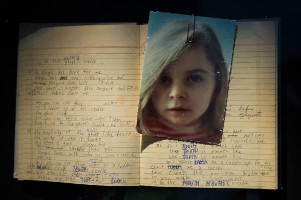 Páginas de uno de los diarios de la infancia de Björk. Foto: EPA