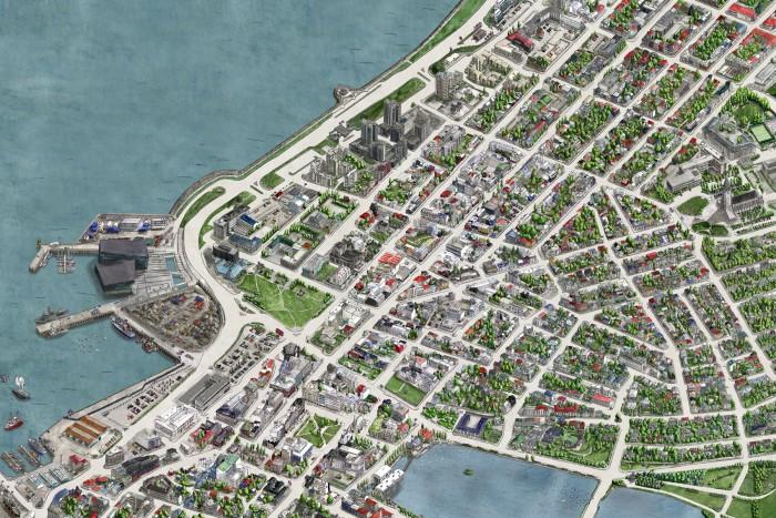 reykjavík Center Map - Hemisferio Boreal