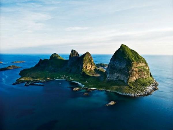 Panorámica de la isla de Træna. Foto: Hans Petter Sorensen