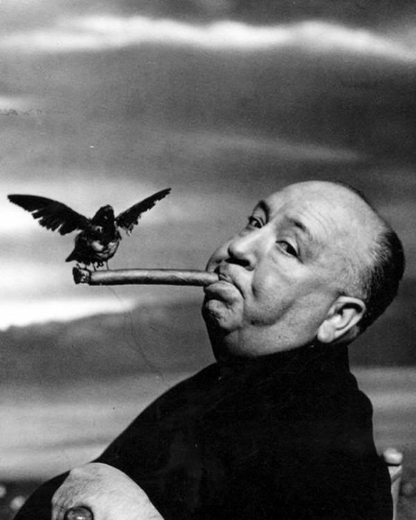 El rey del cine de suspense, Alfred Hitchcock. Foto: Philippe Halsman