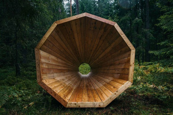 """Aspecto frontal de un """"megáfono"""" Ruup. Foto: Tõnu Tunnel / artun.ee"""