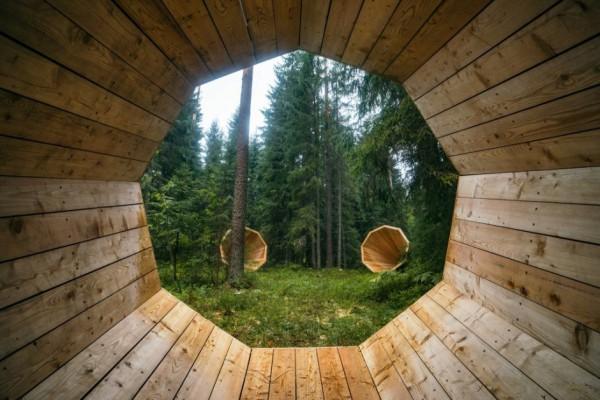 Esto es lo que vemos al sentarnos dentro de un Ruup. Foto: Tõnu Tunnel / artun.ee