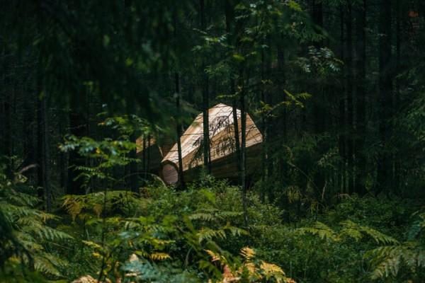 La sensación de estar en plena naturaleza. Foto: En cada Ruup caben varias personas. Foto: Tõnu Tunnel / artun.ee