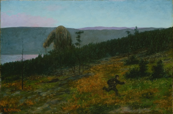 'El joven y el troll' de Theodor Kittelsen (1900)