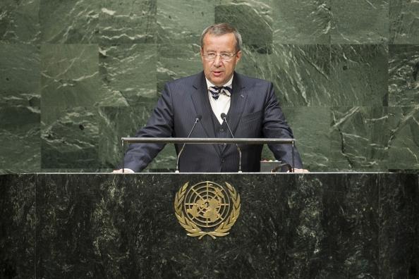 El presidente Ilves, en una intervención en Naciones Unidas. Foto: upnorth.eu