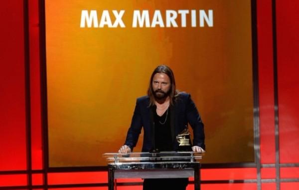Max Martin recibiendo el Grammy 2015 al mejor productor del año. Foto: Getty Images