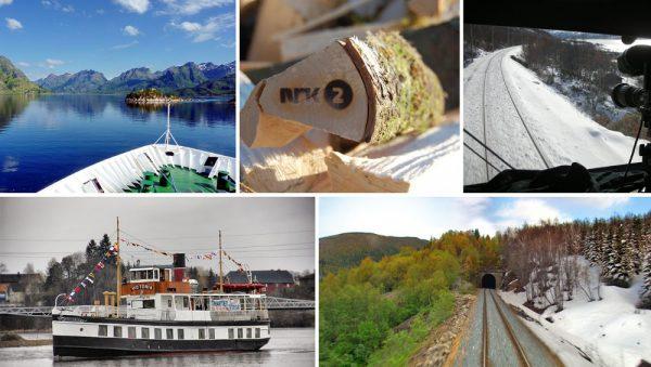 Imagen promocional de la televisión lenta noruega. Foto: NRK