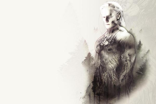 Representación de un hiid, o gigante. Diseño: Visit Estonia